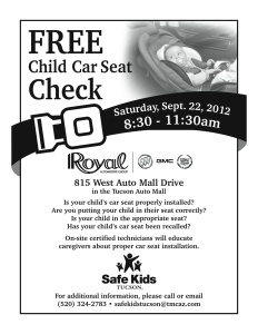 Car Seat Check flyer '12