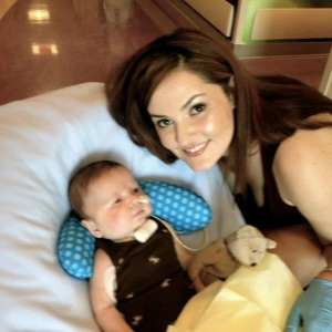 Melissa and baby Killian