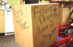 Box of toys from Douglas, AZ to TMC for Children