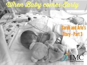 Baby Arlo in the incubator. Born preemie at 25 weeks